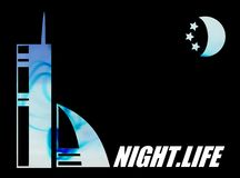 Night Life illustration Royalty Free Stock Photo