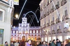 Night life in Madrid, Spain royalty free stock photos