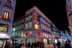 Night life in Madrid, Spain stock image