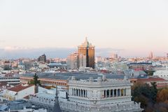 Night life in Madrid, Spain royalty free stock images