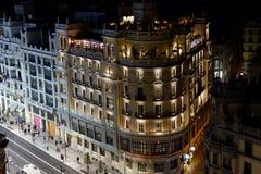 Night life in Madrid, Spain stock photos