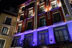 Night life in Madrid, Spain royalty free stock photography