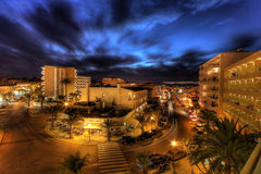 Night life on majorca. With wonderfully blue sky Royalty Free Stock Images
