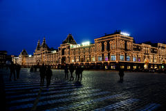 Night life at red square royalty free stock photos