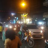 Night life in Saigon royalty free stock images