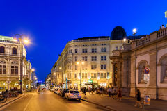 Night Life Scene In Downtown Area Of Vienna City Royalty Free Stock Photography