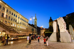 Night Life Scene In Downtown Area Of Vienna City Royalty Free Stock Photo