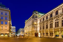 Night Life Scene In Downtown Area Of Vienna City Stock Image