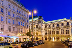 Night Life Scene In Downtown Area Of Vienna City Stock Photography