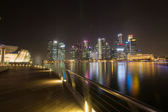 Night life in Singapore Royalty Free Stock Image