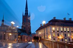 Night life in Stockholm Stock Photos