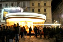 Night life on the streets of Florence city , Italy Stock Photos