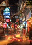 Night Life, Thamel District, Kathmandu, Nepal Stock Photography