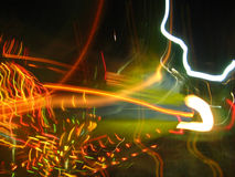 Night Light blurred Stock Images