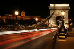 Night light in budapest. royalty free stock photography