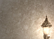 Lampost in Snow Stock Photos