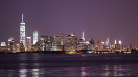 Night light downtown new york city 4k time lapse from usa stock footage