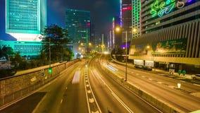 Night light Hong Kong traffic street road bridge panorama 4k time lapse china. China night light hong kong traffic street road bridge panorama 4k time lapse stock video