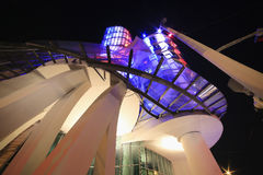Night light in Prague, Dancing house. Stock Photography
