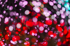 Night light Red bright bokeh background Stock Photos