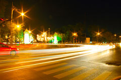Night Light Speed City Royalty Free Stock Photography