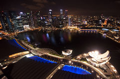 Singapore city top view Stock Images