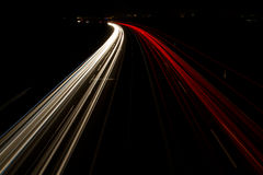 Night light traffic Royalty Free Stock Photo