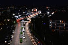 Night light and traffic Stock Photos