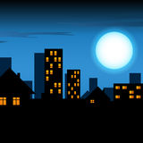 Night lighted city Royalty Free Stock Photo