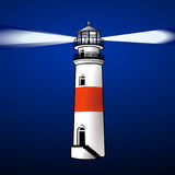 NIGHT LIGHTHOUSE Stock Images