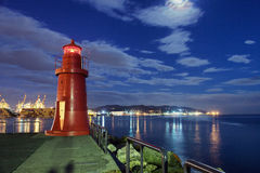 Night lighthouse Stock Photography
