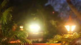 Night light in India. Night lighti in India Varkala Sunrise stock video