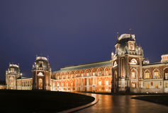 Night lighting castle of museum Tsaritsyno Royalty Free Stock Image