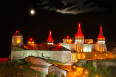 Night lighting castle Stock Photography