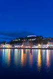 The night lighting of Oban, Highland, Scotland Royalty Free Stock Image