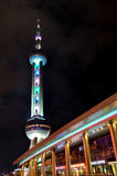 Night lighting of Shanghai oriental pearl tower Royalty Free Stock Photography
