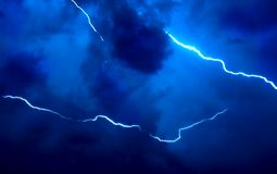 Night lightning. Real photo not computer graphic Royalty Free Stock Photography