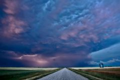 Night Lightning Canada Stock Photos