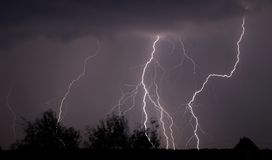 Night lightnings and thunderstorm Stock Image