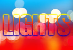 Night lights abstract background Royalty Free Stock Photos
