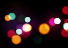 Night Lights Abstract Background. Vector Illustration Stock Photography