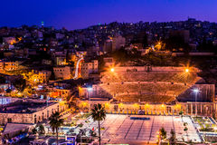 Night lights of Amman - capital of Jordan Royalty Free Stock Photography
