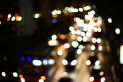 Night lights of the big city Royalty Free Stock Image