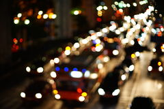 Night lights of the big city Royalty Free Stock Photography