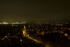 Night and lights of the big city Royalty Free Stock Photo