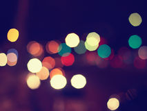 Night lights blurred background Stock Photography