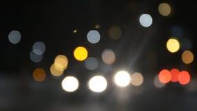 Night lights stock footage