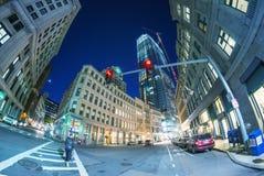 Night lights of Boston, MA Stock Photography