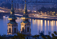 Night lights in Budapest Royalty Free Stock Photos