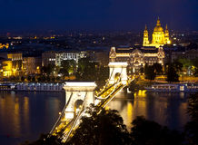 Night lights of Budapest Stock Image